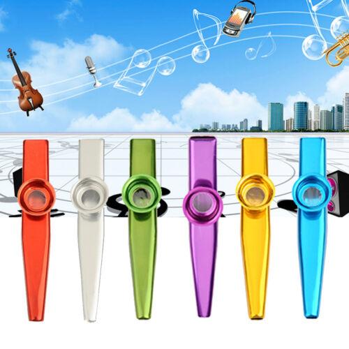 High Quality Metal Kazoo Instrument Mouth Flute Guitar Ukulele Accompaniment