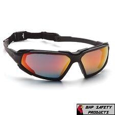 Pyramex Highlander Safety Glasses Sky Red Mirror Anti Fog Sunglasses Sbb5055dt