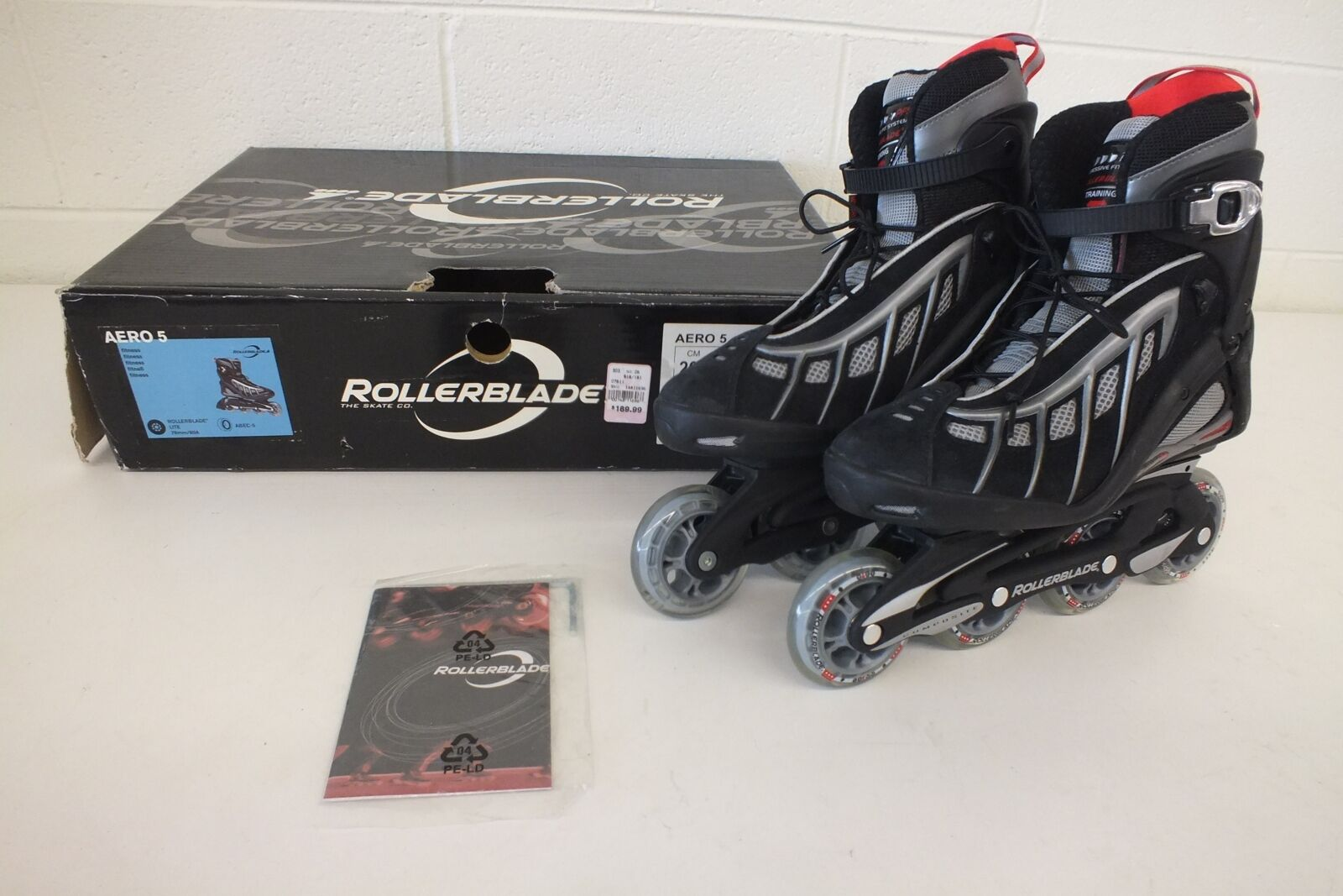 Rollerblade Aero 5 High-Quality Fitness Focused Inline S s Men's 8 40.5 NEW
