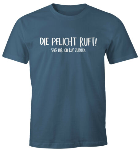 T-shirt hommes le devoir m/'appelle lui dis je rappellerai Fun-shirt sort-Shirt