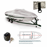 V-hull Tri-hull Fishing Ski Storage Mooring Boat Cover Fits 14' -16.5'l 90width