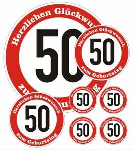 Details Zu Sortiment 50 Geburtstag Verkehrsschild Aufkleber Verkehrszeichen Birthday