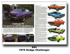 1970 Dodge Challenger Ad Brochure 13x19 Poster Mancave Art R/T 383 440 426 HEMI
