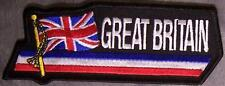 Embroidered International Patch National Flag of Great Britain NEW streamer