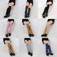 Women Winter Warm Crochet Knit High Knee Leg Warmers Leggings Boot Socks Slouch