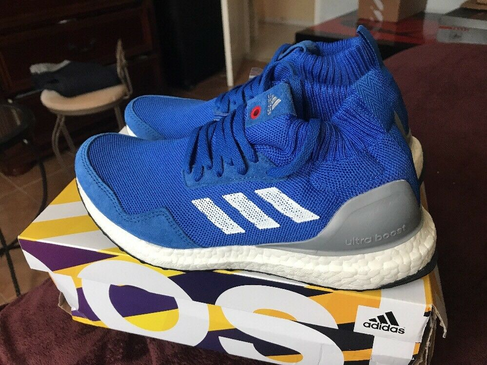 Adidas Consortium Ultra Boost Mid Run Thru Time Sz 6 Royal BY3056 Royal 6 Blue (Wmn Sz7) 187347