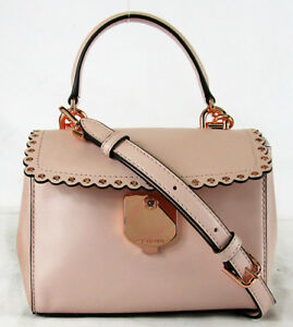 dd9905b8f66d MICHAEL KORS AVA Soft Pink Leather XS Scalloped Crossbody Bag Msrp ...