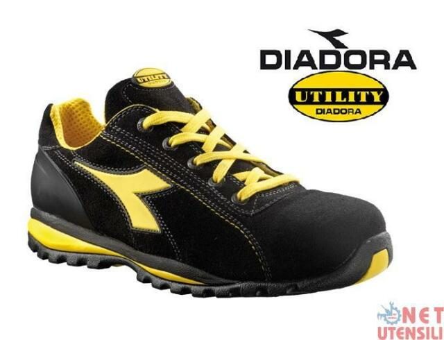 Diadora Unisex Adults  Glove II Low S1p HRO SRA Safety Shoes Black ... 84bf18a64fd