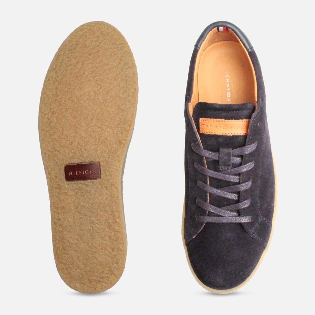 Tommy Hilfiger de Luxe bleu marine en daim chaussures de Hilfiger loisirs b62aee