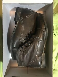 ffbea951671 Details about STEVE MADDEN Thundar Troopa Men Size 9.5 US Grey Trendy  Fashion COMBAT BOOTS