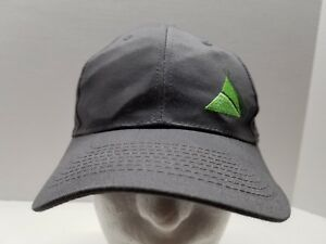 Gray Ball Cap With Green   Blue Triangle TP Logo Hat Embroidered ... 3da379826fba