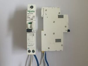 Schneider Acti 9  iC60H RCBO C32 A Circuit Breaker TESTED