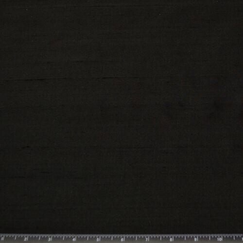 """Black 100/% Silk Shantung Fabric 54/"""" Wide By The Yard SF-5080"""
