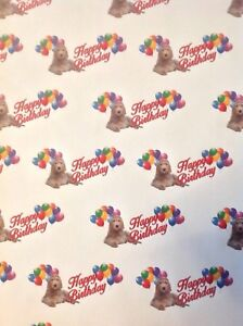 Image Is Loading LABRADOODLE BIRTHDAY GIFT WRAPPING PAPER PETS DOGS MUM