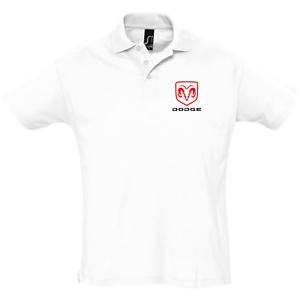 polo-homme-DODGE-blanc-noir-s-2xl-sport-chic