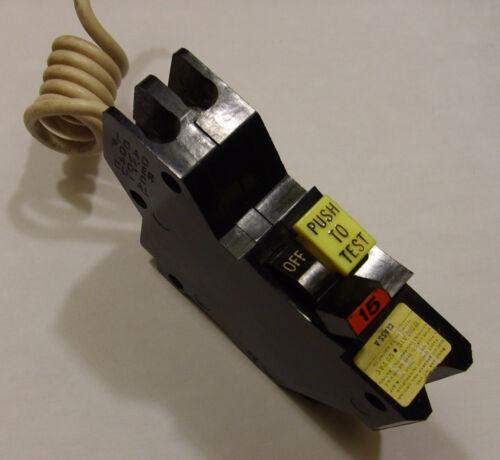 15 AMP Federal Pacific American FPE 15A Stab Lok GFI Breaker GFCI