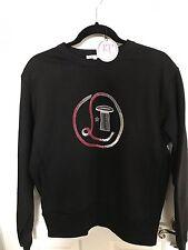 Olympia Le Tan Black Sweatshirt with Sequin Logo - NWT
