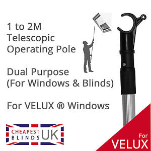Roof skylight operating rod pole for velux windows for Velux skylight control rod