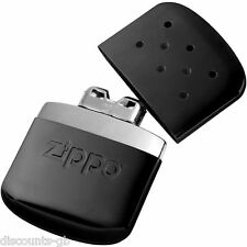 ZIPPO BLACK HAND WARMER Kit - 40368 12 HOUR -CAMPING, TRAVEL, EMERGENCY Winter
