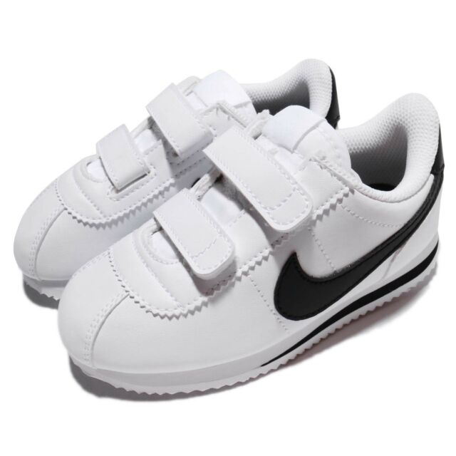 3708cbcad99 Nike Cortez Basic SL TDV White Black Toddler Infant Baby Shoe Sneaker  904769-102