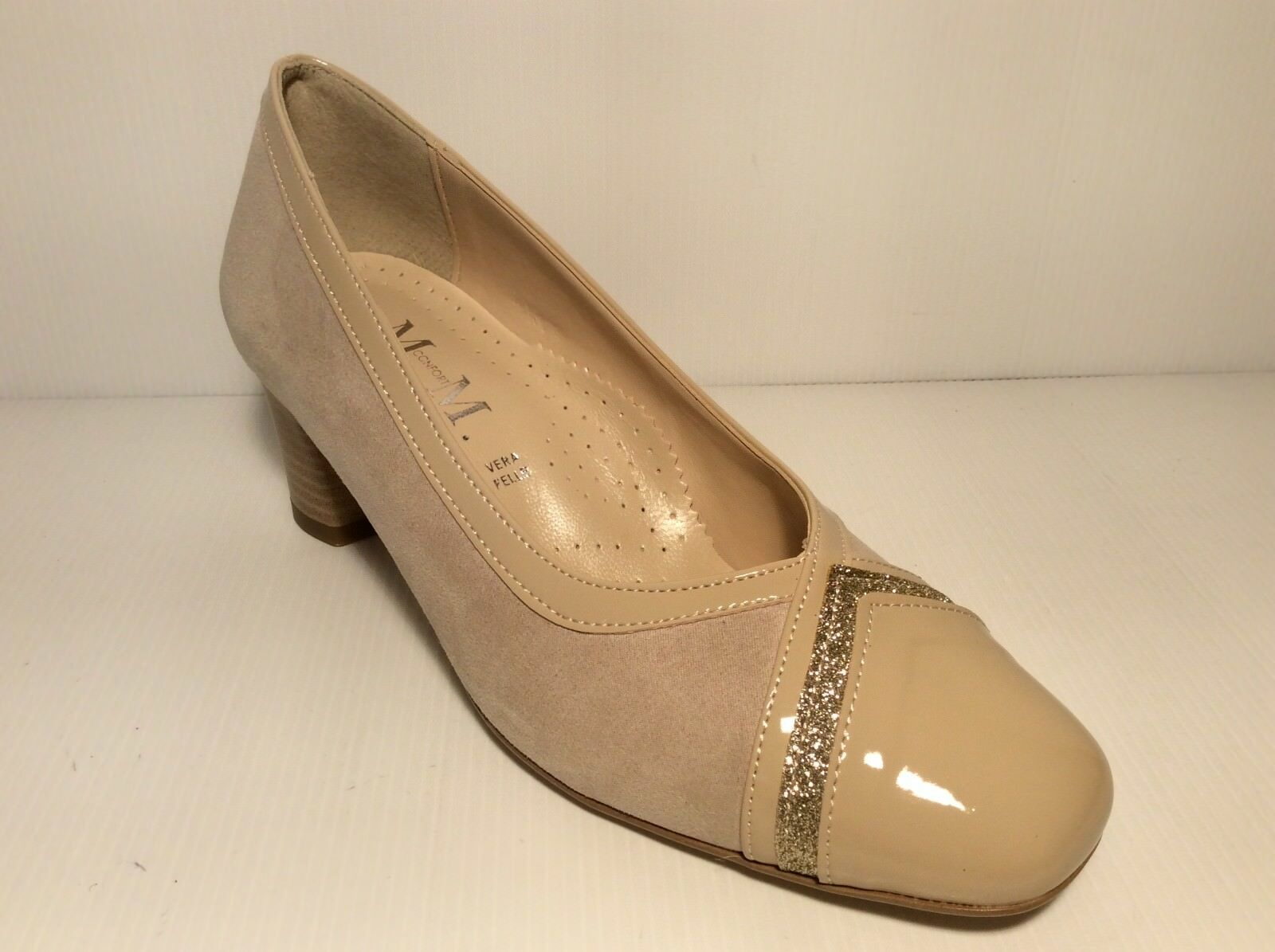 CHAUSSURES ESCARPINS FEMME MM CONFORT 506 COL BEIGE MADE IN ITALY TALON 50