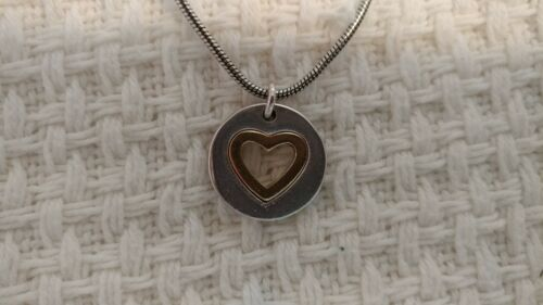 Brighton Two Tone Open Heart Necklace