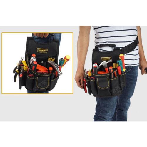 MagiDeal Heavy Duty Oxford Werkzeugtasche mit mehreren Taschen und Hüftgurt