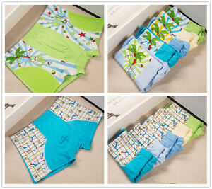 4 pcs Packed Bear Monkey Boxers Children Boy Briefs Panties Underpants Underwear