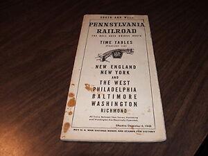 DECEMBER-1942-PRR-PENNSYLVANIA-RAILROAD-FORM-19-HELL-GATE-BRIDGE-ROUTE-WWII