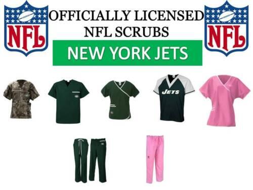 NEW YORK JETS SCRUB TOP-NEW YORK JETS SCRUB PANTS-NEW YORK JETS SCRUBS