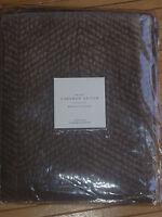 Restoration Hardware Velvet Chevron Stitch Morel Euro Pillow Sham