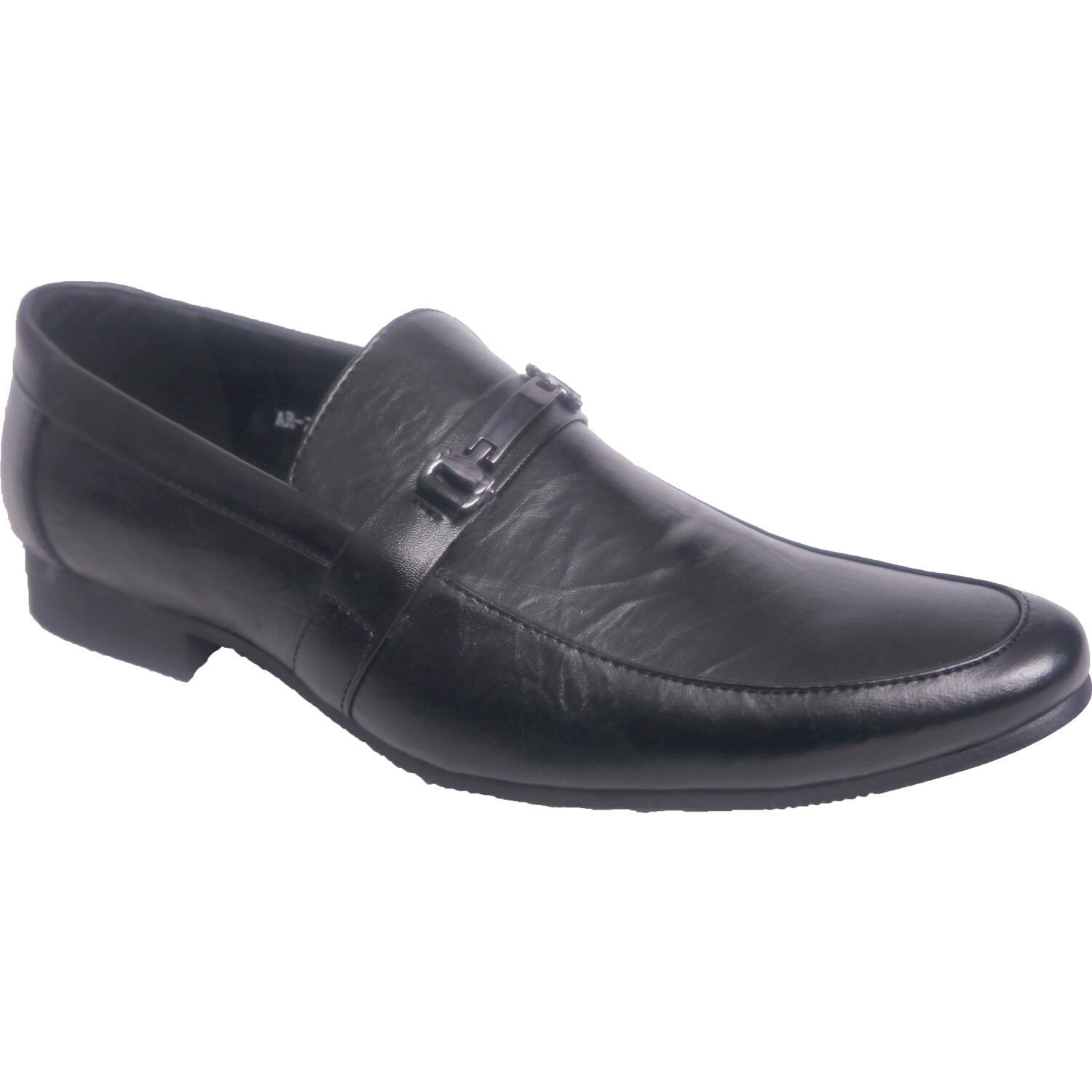 Mens Boys Synthetic Leather Slip Ons Black Wedding Party Formal Shoes Black Ons b74050