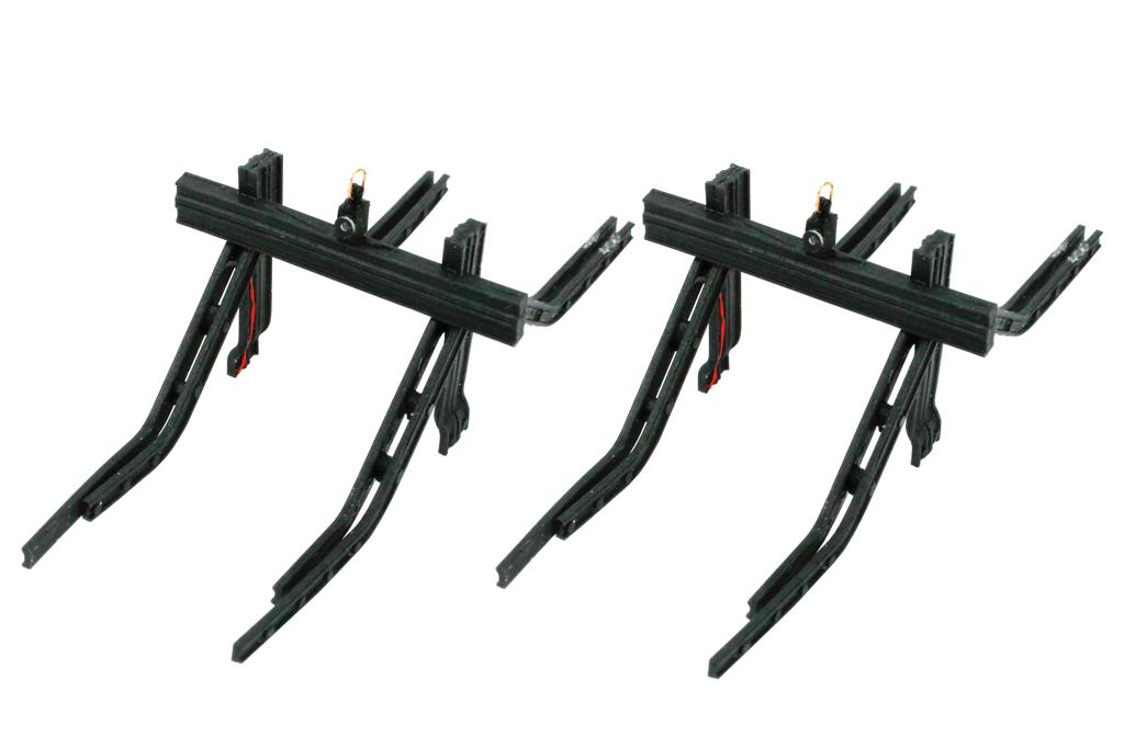 2 x Rail Type Buffers /& Lights Kit EM//P4//00 Gauge T48Pos DCC Concepts DML-MBSK