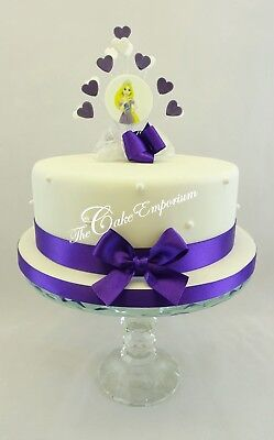 Swell Disney Birthday Rapunzel Heart Burst Cake Topper And Matching Personalised Birthday Cards Rectzonderlifede