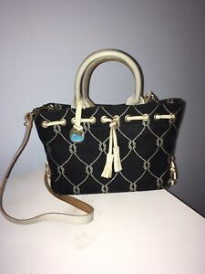 Image Is Loading Dooney And Bourke Nautical Handbag With Detachable Shoulder