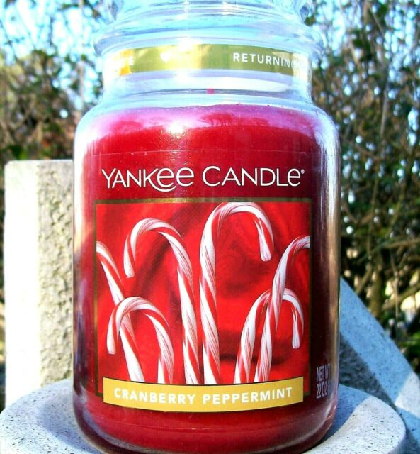 Yankee Candle Cranberry Peppermint 22 Oz Large Jar For Sale Online Ebay