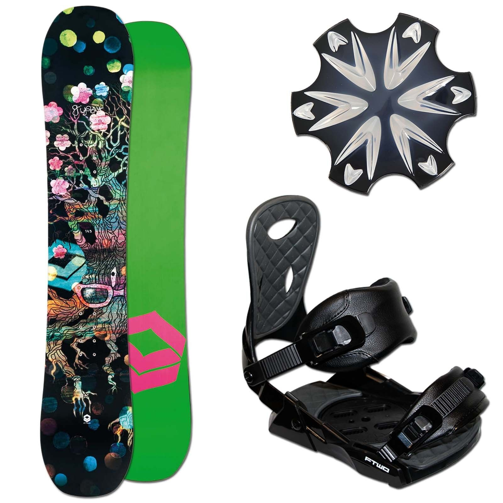 Ladies Freestyle Snowboard Ftwo Gipsy 152 cm + Team Binding SIZE M + Pad
