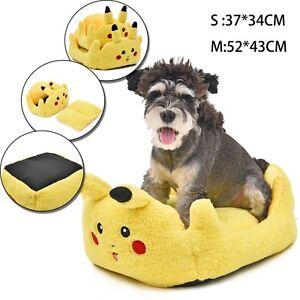 Squishy Dog From Pokemon : Pet Dog Cat Bed PokemonGo Pikachu Cushion Pokemon Comfor Soft Mat Warm Kennel eBay