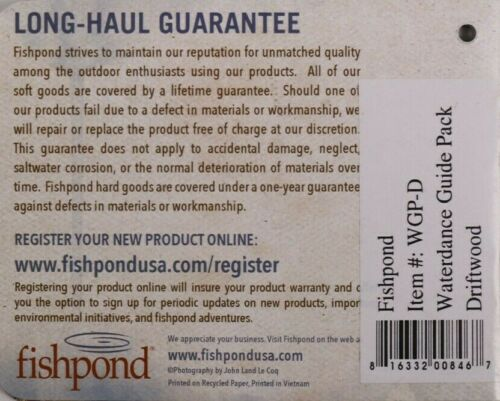 Color Driftwood FREE SHIPPING! Fishpond Waterdance Guide Pack