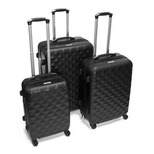 ALEKO-ABS-Luggage-Suitcases-for-Travel-with-Combo-Lock-Diamond-Pattern-Black