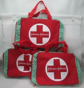 3 J&J Johnson First Aid Bags Build Your Own Kit Designed Camp Car Travel Scouts