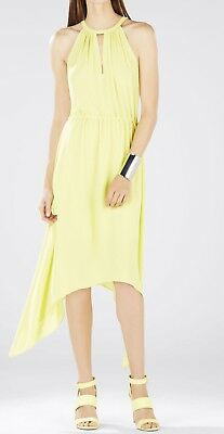 BCBGMax Azria Womens Halter Dress with Front Keyhole