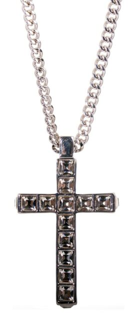 23f1702e802a4 Details about Swarovski Elements Crystal Pave Cross Necklace Rhodium Plated  Authentic 7240z