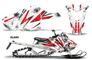 Snowmobile-Graphics-Kit-Decal-Sticker-Wrap-For-Polaris-Axys-SKS-15-16-SLASH-RED