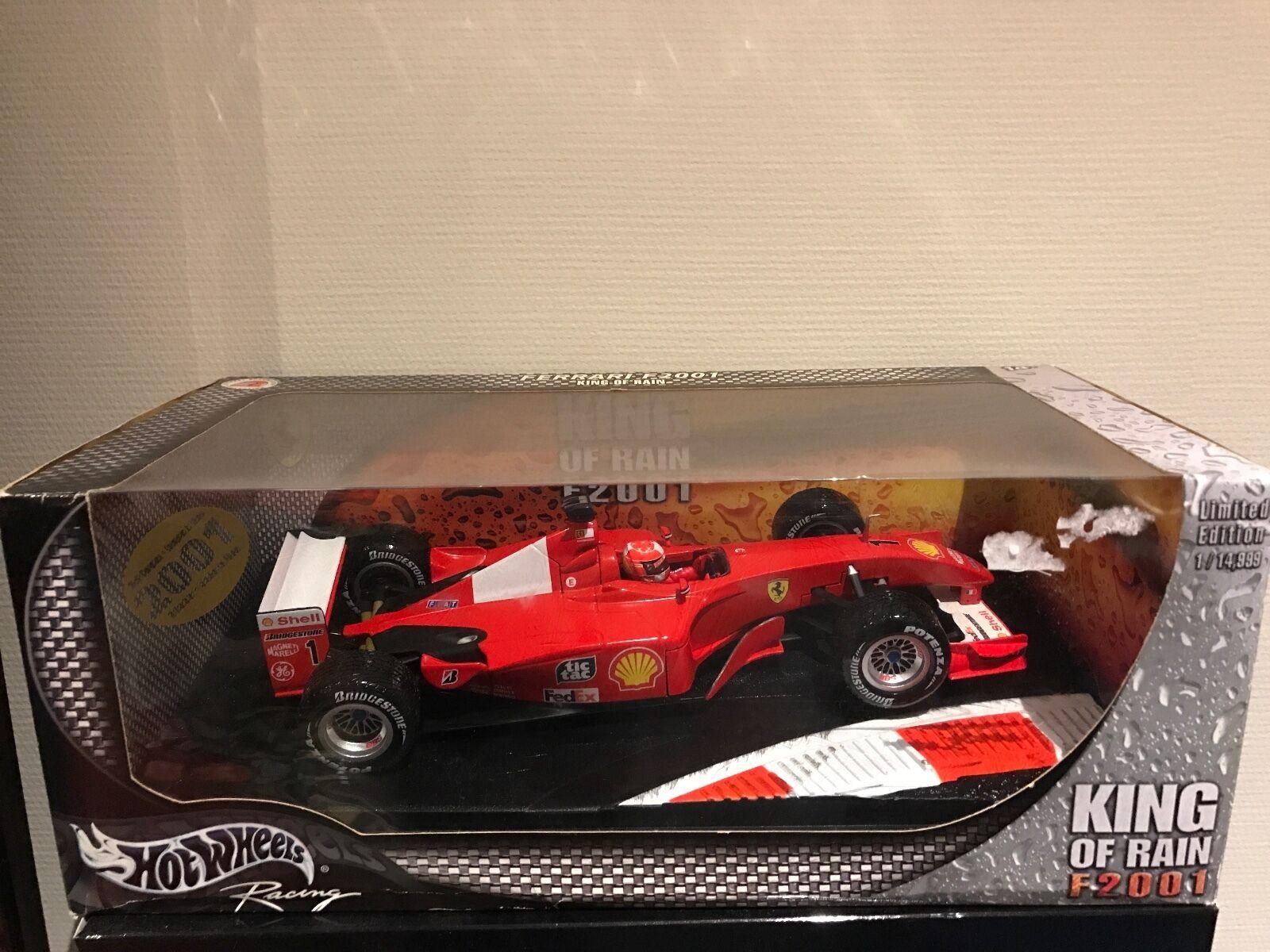 Ferrari F2001 King of Rain M. Schumacher scale 1 18 Hotwheels with box