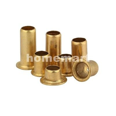 M0.9 M1.3 M1.5 M1.7 M2 Copper Brass Rivet Nut Through Hole Rivets Hollow Grommet