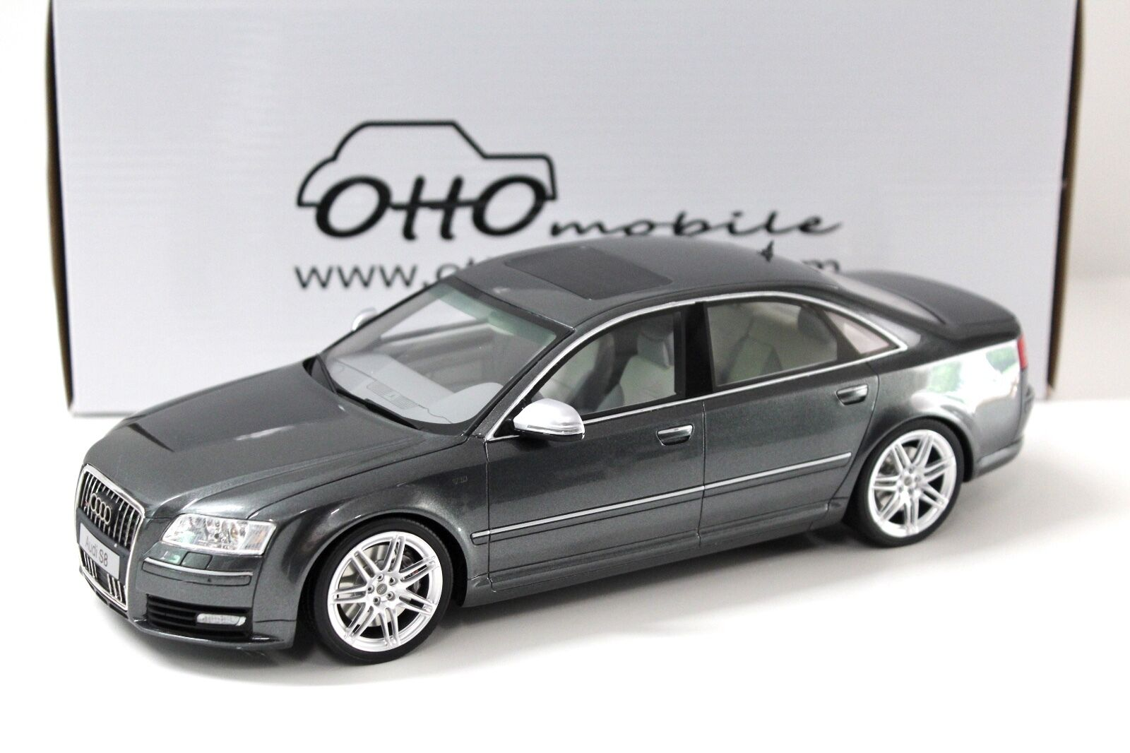 1 18 18 18 OTTO Audi A8 S8 D3 grey 2008 NEW bei PREMIUM-MODELCARS d57685