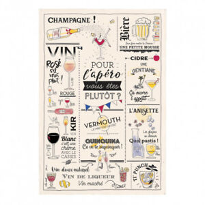 Torchons-amp-Bouchons-French-Champagne-Beer-Wine-Tea-Dish-Kitchen-Towel-Gift-New