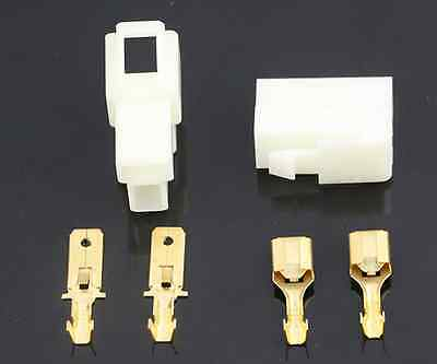 10pcs DJ7021-6.3 Female Male Kit 2 Pin Car Connector Wiring Harness Plus