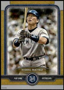 Hideki-Matsui-2019-Topps-Museum-5x7-Gold-64-10-Yankees